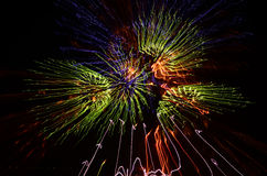 Kleurrijke vuurwerkvertoning Stock Afbeeldingen