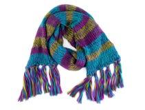 Kleurrijke warme gebreide sjaal royalty-vrije stock afbeeldingen
