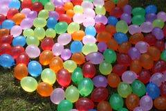 Kleurrijke waterballons Stock Fotografie