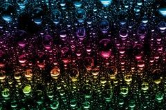 Kleurrijke waterdalingen Stock Afbeeldingen