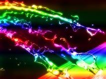 Kleurrijke waterplons vector illustratie