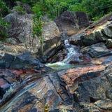 Kleurrijke waterval Royalty-vrije Stock Fotografie
