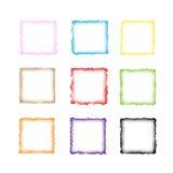 Kleurrijke waterverfgrens Royalty-vrije Stock Afbeeldingen