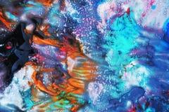 Kleurrijke waterverfverf, zachte mengelingskleuren, het schilderen vlekkenachtergrond, waterverf kleurrijke abstracte achtergrond Stock Foto's