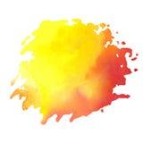 Kleurrijke waterverfvlek met aquarelle verfvlek Stock Afbeelding
