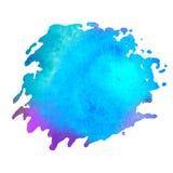Kleurrijke waterverfvlek met aquarelle verfvlek Royalty-vrije Stock Afbeeldingen