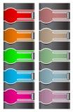 Kleurrijke Webelementen Royalty-vrije Stock Fotografie