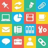 Kleurrijke websitepictogrammen geplaatst voor om het even welk gebruik groot Vector eps10 Stock Foto