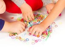 Kleurrijke Weefgetouwbanden stock fotografie