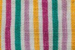 Kleurrijke weefseltextuur Royalty-vrije Stock Fotografie