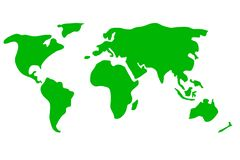 Kleurrijke wereldkaart stock illustratie