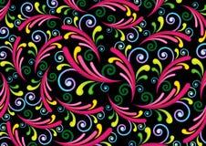 Kleurrijke werveling & spiraalvormige achtergrond stock illustratie