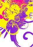 Kleurrijke wervelingen stock illustratie