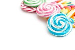 Kleurrijke wervelingslolly stock foto