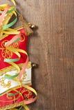Kleurrijke wimpels en Carnaval hoed Royalty-vrije Stock Afbeelding