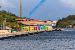 Kleurrijke Winkels in Curacao royalty-vrije stock afbeelding