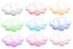 Kleurrijke wolken stock illustratie