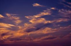 Kleurrijke wolken Royalty-vrije Stock Afbeelding