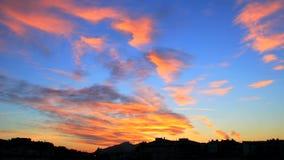 Kleurrijke Wolken bij Zonsondergang stock footage