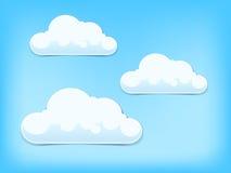 Kleurrijke wolken vectorachtergrond Stock Afbeeldingen