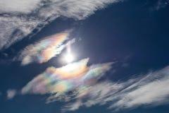 Kleurrijke wolkenirisatie royalty-vrije stock afbeelding