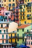 Kleurrijke woningen Volledige achtergrond met kleurrijke gebouwen Royalty-vrije Stock Fotografie