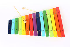 Kleurrijke xylofoon royalty-vrije stock foto