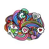 Kleurrijke Zentangle-Krabbelvector Stock Foto