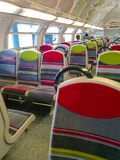 Kleurrijke Zetels van Moderne Openbare Metro van Parijs Frankrijk Royalty-vrije Stock Foto