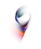 Kleurrijke zijdeachtige sluier, abstracte achtergrond Royalty-vrije Stock Foto's