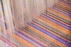 Kleurrijke zijdedraad Stock Foto