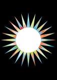 Kleurrijke zon en maan royalty-vrije illustratie