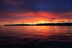 Kleurrijke zonsondergang Royalty-vrije Stock Fotografie