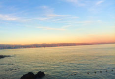 Kleurrijke zonsondergang Royalty-vrije Stock Afbeeldingen