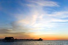 Kleurrijke Zonsondergang in Florida van het Zuidwesten royalty-vrije stock afbeelding