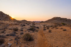 Kleurrijke zonsondergang over de Namib-woestijn Royalty-vrije Stock Afbeeldingen