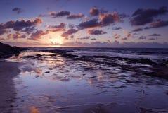 Kleurrijke zonsondergang in San Diego Stock Foto