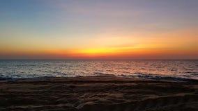 Kleurrijke Zonsondergang in Sri Lanka stock foto's