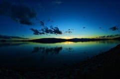 Kleurrijke Zonsondergang in Utah Stock Afbeeldingen