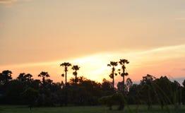 Kleurrijke zonsopgang bij dageraad Stock Fotografie