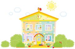 kleuterschool Royalty-vrije Stock Afbeeldingen