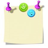 Kleverig document Stock Fotografie