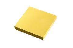 Kleverig notablok met het knippen van weg Royalty-vrije Stock Fotografie