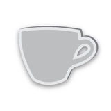 Kleverig pictogram van kop die op witte achtergrond wordt geïsoleerd stock illustratie
