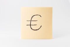 Kleverig van de Achtergrond nota'sblocnote Geel Vierkant Wit Bureausupplement royalty-vrije stock fotografie