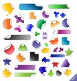 Kleverige etiketteninzameling. Stock Foto's