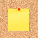 Kleverige gele lege nota Royalty-vrije Stock Fotografie
