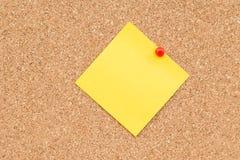Kleverige gele lege nota Royalty-vrije Stock Afbeelding