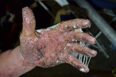 Kleverige hand Royalty-vrije Stock Foto