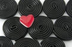 Kleverige hart en spiralen Royalty-vrije Stock Foto